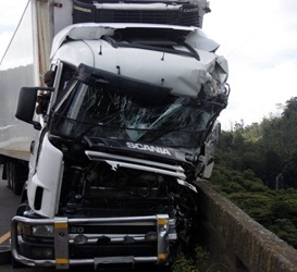 The result of a two truck collision on the N3 near Shongweni