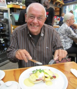 Chris's dad, Angus, loves a good Eggs Benedict, especially for Father's Day