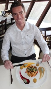 Restaurant Manager Graham Schubach enjoying the meal