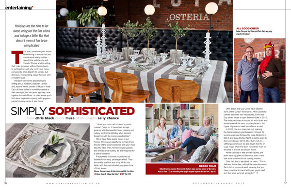 Last year's shoot was done in conjunction with Lupa Osteria and Muse