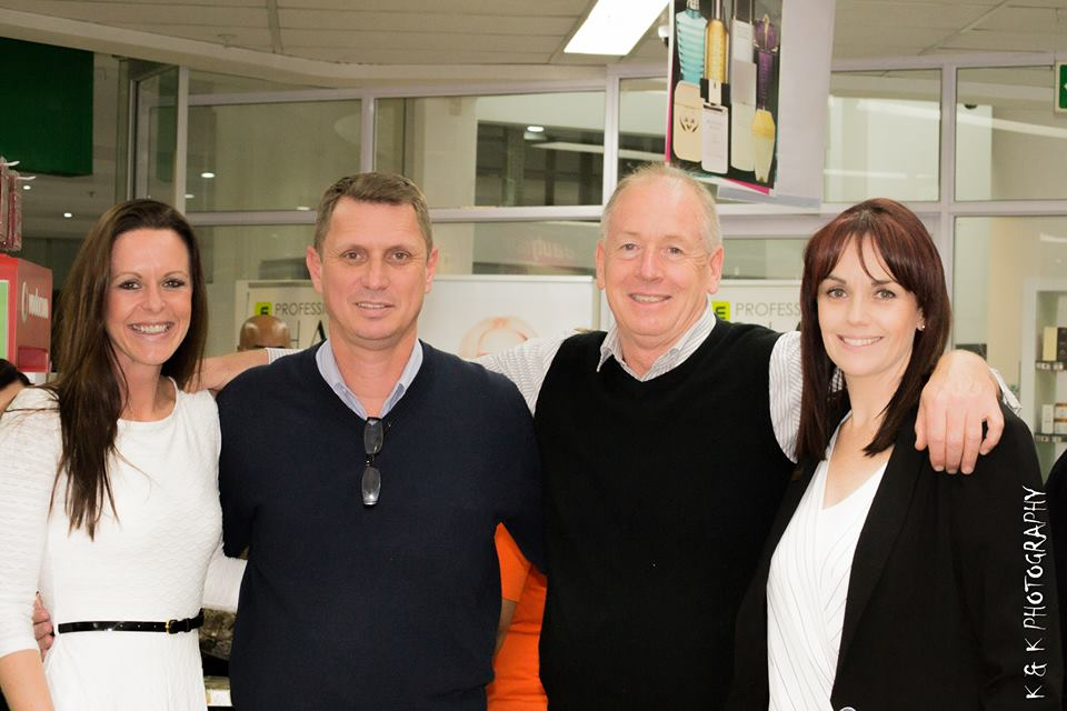 From left to right Kim Griffith Jones Co-ordinator of The Robin Hood Foundation Jacques Hartslief, Dis-Chem Regional Store Manager for KZN and Eastern Cape Kim Nicklin, from Adcock Ingram, who sponsored the snacks for the evening Candace Van Wyk, Dis-Chem KZN Regional Manager