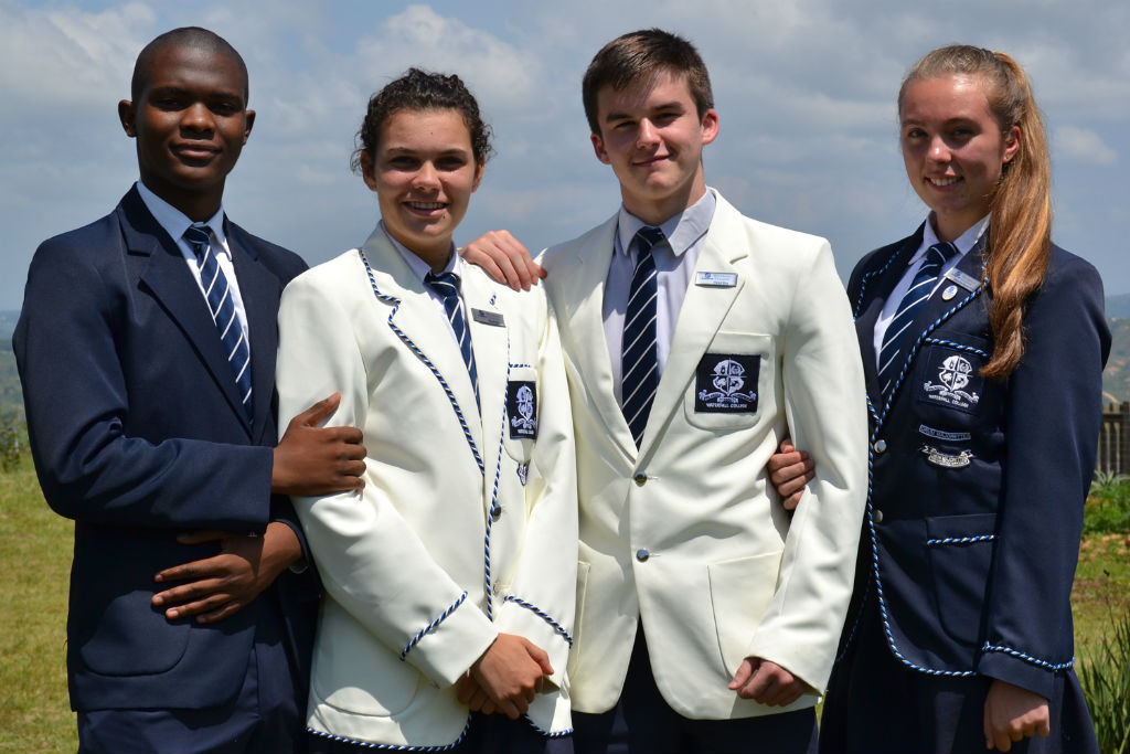 Waterfall College Head Prefects for 2016 are Mthobisi Conco (Deputy Head Boy), Kayla Stacey (Head Girl), Michael André (Head Boy) and Ciara van Niekerk (Deputy Head Girl) by Jade McGee