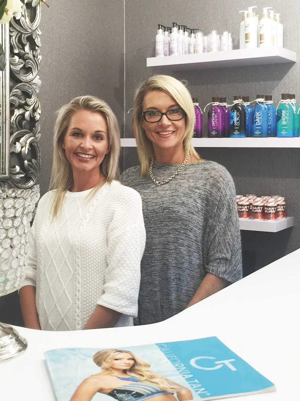 Beautician Karyn Phillpott with owner Laura Ries.
