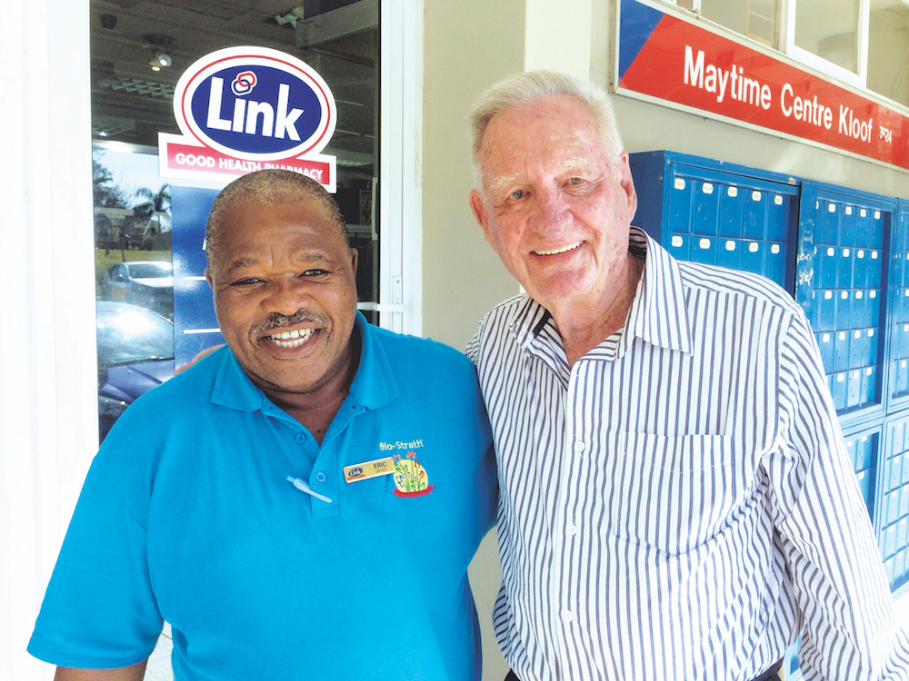 Driver Eric Mlaba with original owner Gerard Viger, during a recent visit to KwaZulu-Natal.