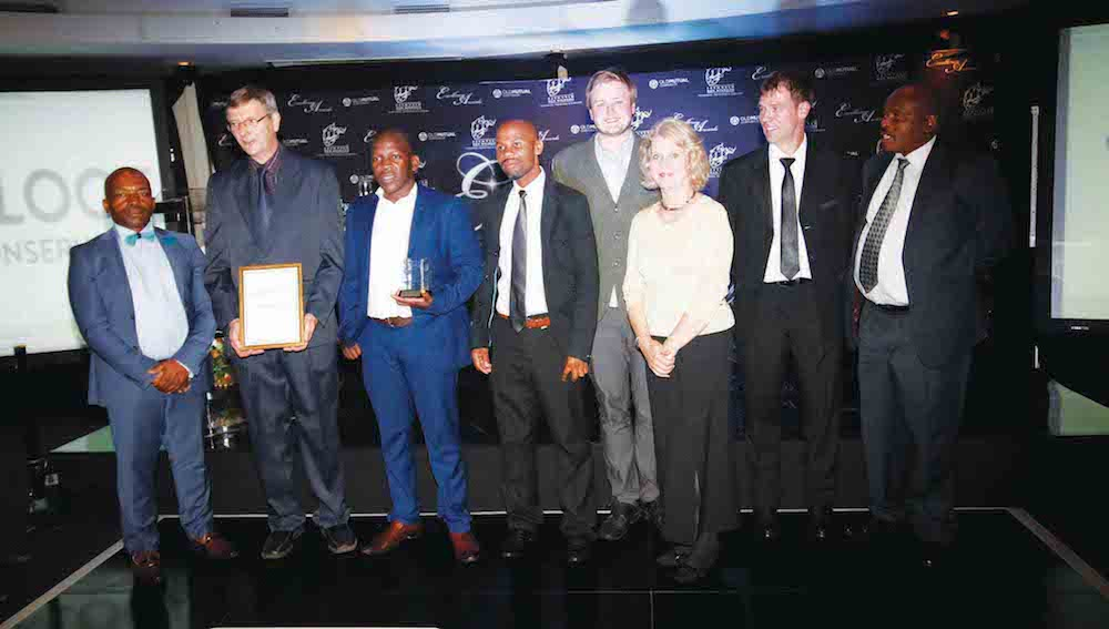 From left: Sipho Mtolo (KZN Wildlife Board Member), Bruce Crouch, Vice-chairman Kloof Conservancy, Khulekani Ngubane, Chairman of outreach partners Kwa- Ximba Conservancy, Simon Maphumulo, Kloof Conservancy Exec team, Dylan Dyzel from Ranga Media, Sandra Hanafey, representing Exec team, Waldo Bekker, Conservation Officer, Krantzkloof Nature Reserve, and Bheki Khoza, Acting CEO, Ezemvelo KZN Wildlife.