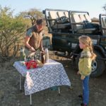 Morning coffee on a game drive in Nambiti.