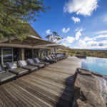 The pool deck at Nambiti Private Game Reserve.