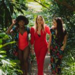 Three models wearing Ella Sol range filled with bold colours and prints.