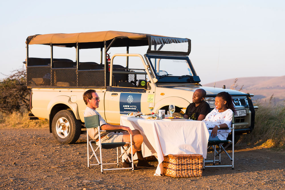 A couple on holiday at Anew Hotel Hluhluwe & Safaris