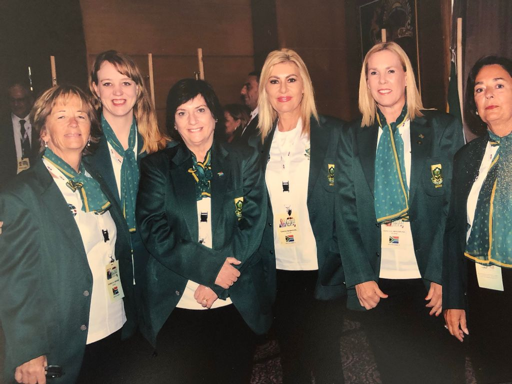 The South African Team at the Opening Ceremony.